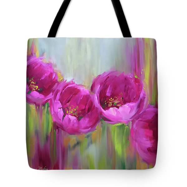 Given Time Pink Tulips Tote Bag