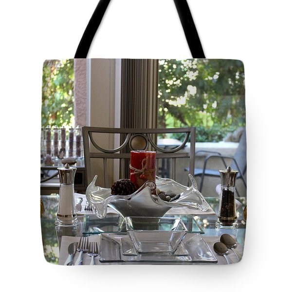Giving Thanks In California Thanksgiving Table Tote Bag