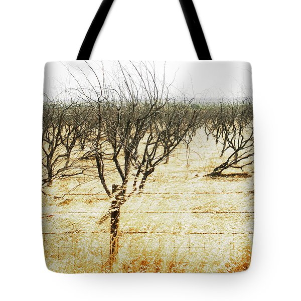Giving Up - The Drought In California Central Valley Taking It's Toll On Trees And Farmers Tote Bag by Artist and Photographer Laura Wrede