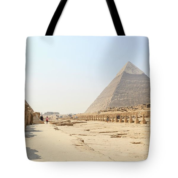 Tote Bag featuring the photograph Giza by Silvia Bruno