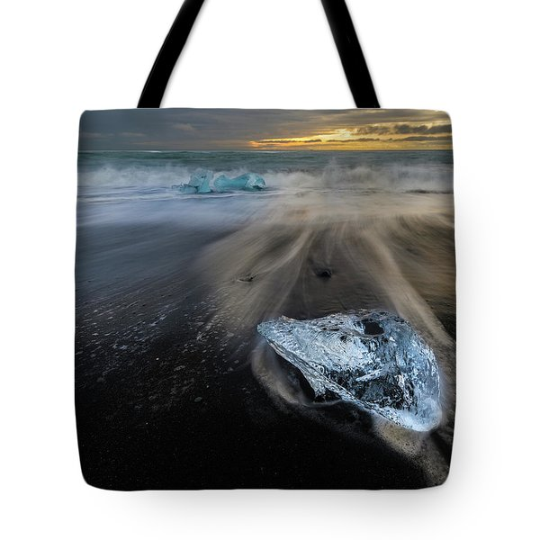 Tote Bag featuring the photograph Glacial Shard by Rikk Flohr