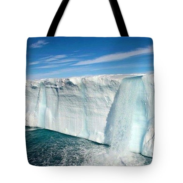 Glacial Waterfalls  Tote Bag