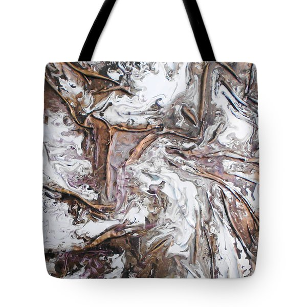Tote Bag featuring the mixed media Glacier by Angela Stout
