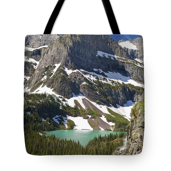 Tote Bag featuring the photograph Glacier Backcountry by Gary Lengyel