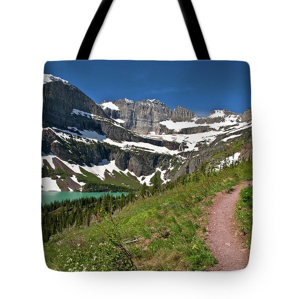 Tote Bag featuring the photograph Glacier Backcountry Trail by Gary Lengyel