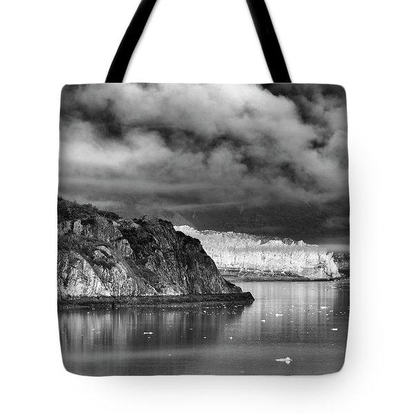 Glacier Bay Alaska In Bw Tote Bag