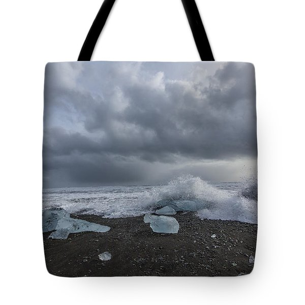 Glacier Ice 2 Tote Bag by Kathy Adams Clark