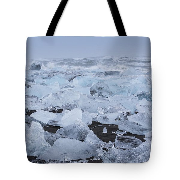 Glacier Ice Tote Bag by Kathy Adams Clark