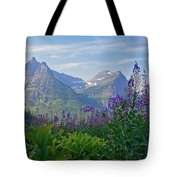 Glacier National Park Fireweed Tote Bag