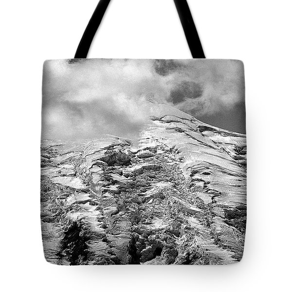 Tote Bag featuring the photograph Glacier On Mt Rainier by Lori Seaman