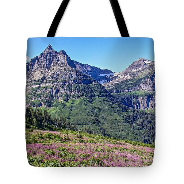 Glacier Park Bedazzeled Tote Bag