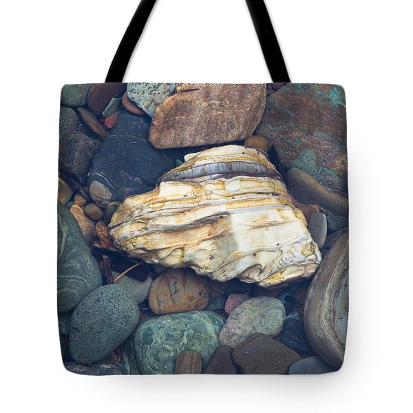 Glacier Park Creek Stones Submerged Tote Bag