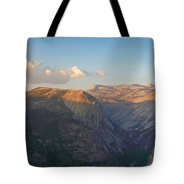 Glacier Point Panorama Tote Bag