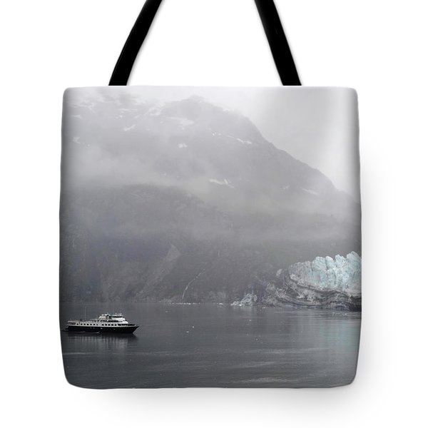Tote Bag featuring the photograph Glacier Ride by Zawhaus Photography