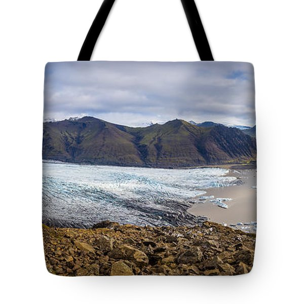 Tote Bag featuring the photograph Glacier View by James Billings