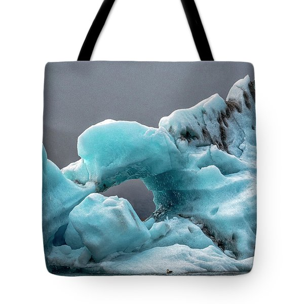 Tote Bag featuring the photograph Glacier With Hole by Tom Singleton