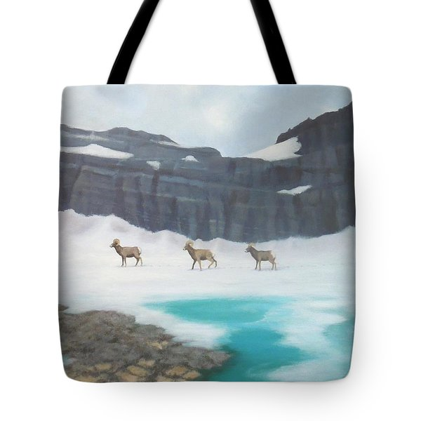 Glacier's Bighorn Hikers Tote Bag