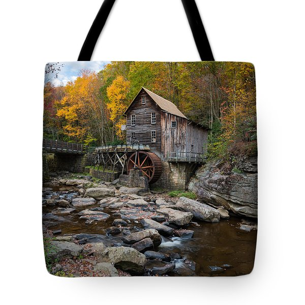 Glade Creek Grist Mill Babcock State Park Tote Bag