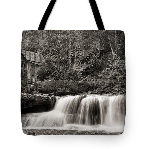 Glade Creek Grist Mill Monochrome Tote Bag