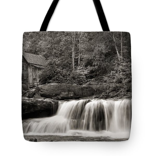 Glade Creek Grist Mill Monochrome Tote Bag