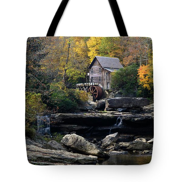 Tote Bag featuring the photograph Glade Creek Grist Mill - D009975 by Daniel Dempster