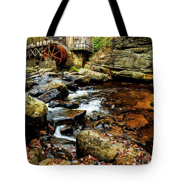 Glade Creek Grist Mill Fall  Tote Bag