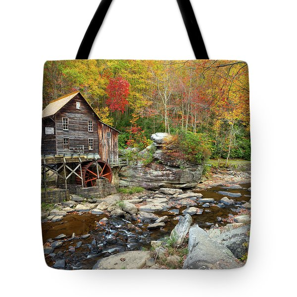 Glade Creek Grist Mill In Autumn Tote Bag