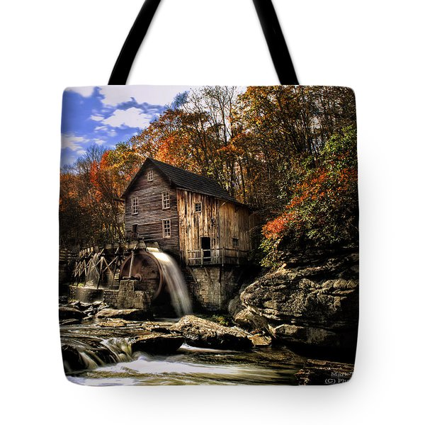 Glade Creek Grist Mill Tote Bag by Mark Allen
