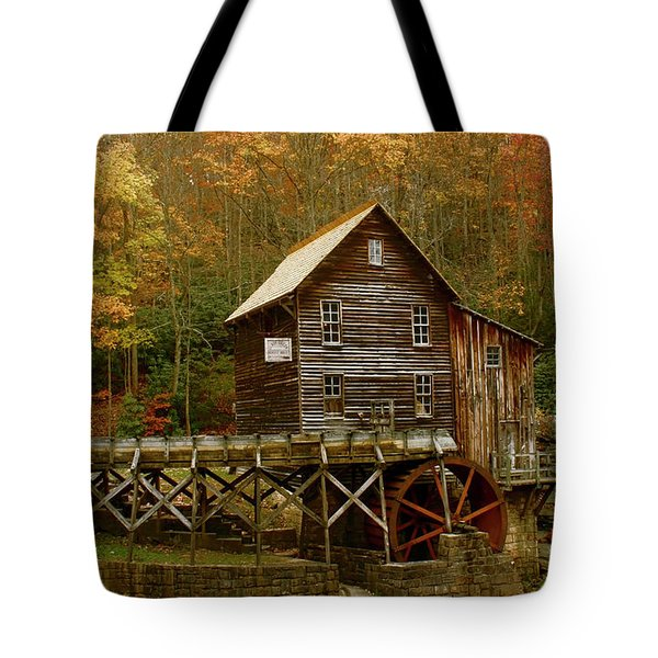 Tote Bag featuring the photograph Glade Grist Mill by Ola Allen