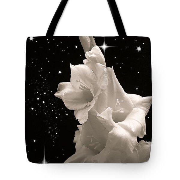 Gladiolas In Space Tote Bag by Farol Tomson