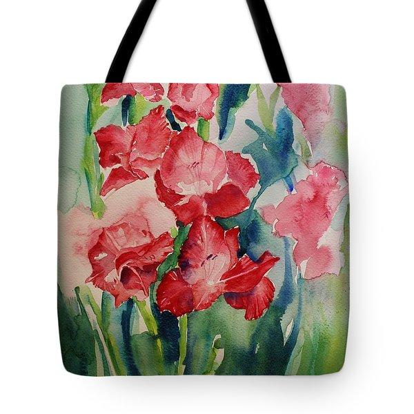 Gladioli Still Life Tote Bag