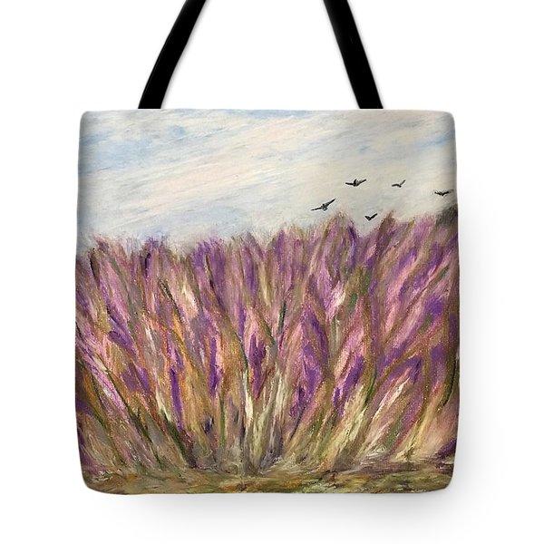 Gladiolus Field Tote Bag