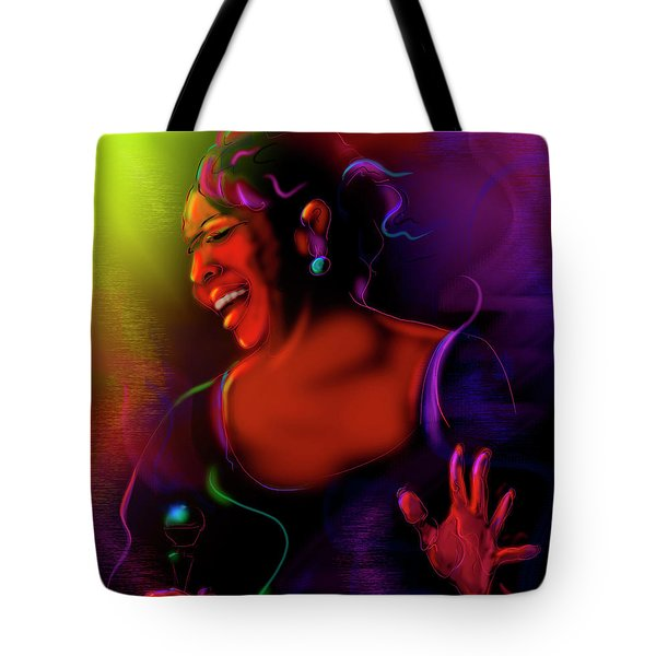 Tote Bag featuring the painting Gladys Knight by DC Langer