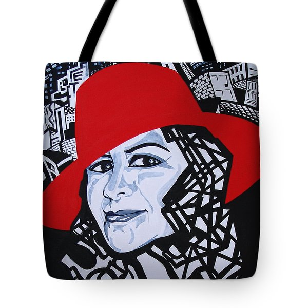 Glafira Rosales In The Red Hat Tote Bag by Yelena Tylkina