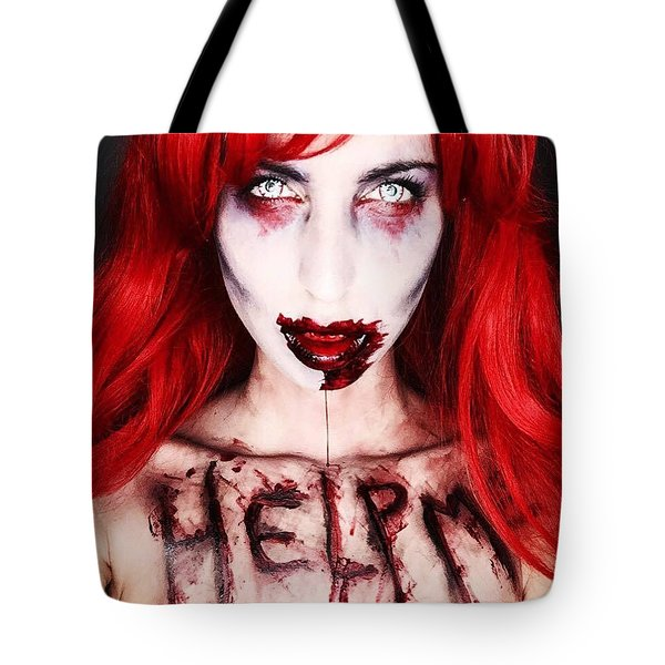 Glam Zombie Tote Bag