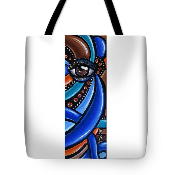 Abstract Eye Art Acrylic Eye Painting Surreal Colorful Chromatic Artwork Tote Bag