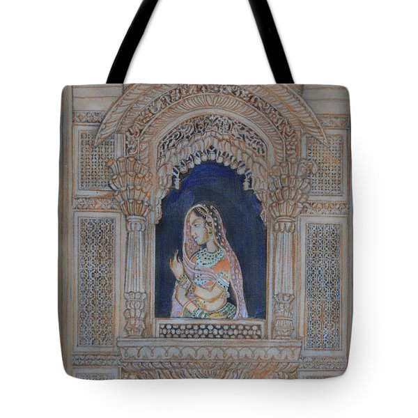 Glancing From Her Window Tote Bag by Vikram Singh