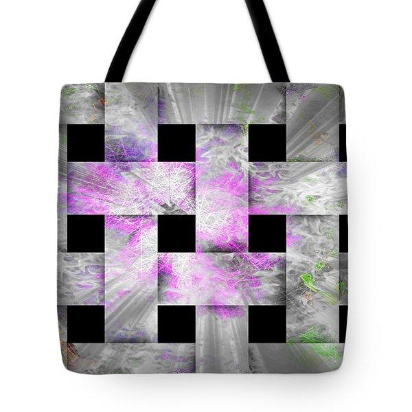 Glaring Flowers Tote Bag by Amanda Eberly-Kudamik