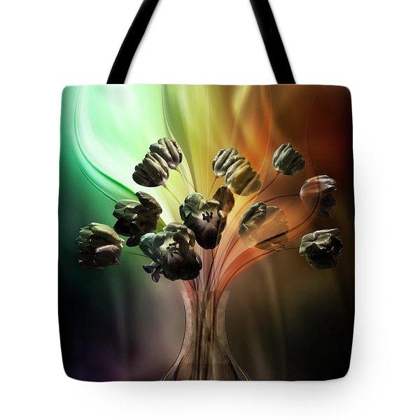 Glasblower's Tulips Tote Bag