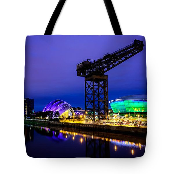 Glasgow At Night Tote Bag