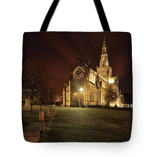 Glasgow Cathedral Night Tote Bag by Grant Glendinning