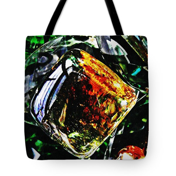 Glass Abstract 160 Tote Bag by Sarah Loft