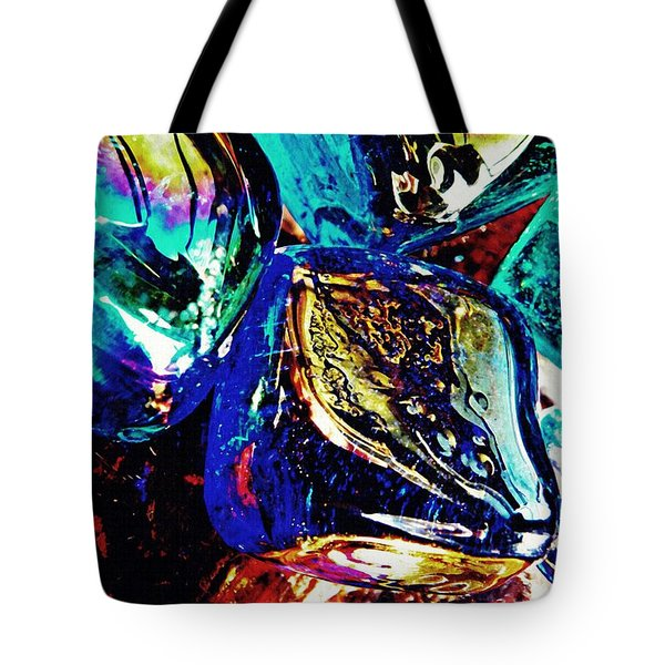Glass Abstract 687 Tote Bag by Sarah Loft