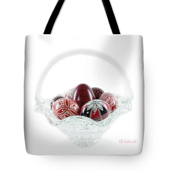 Glass Basket Full Of Eggs Tote Bag