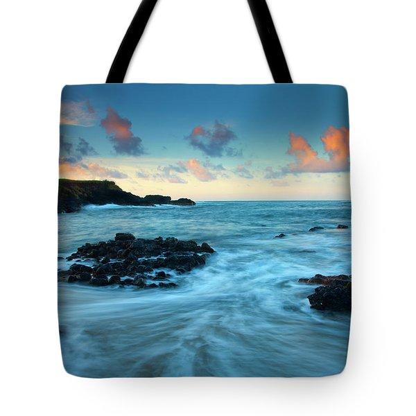 Glass Beach Dawn Tote Bag