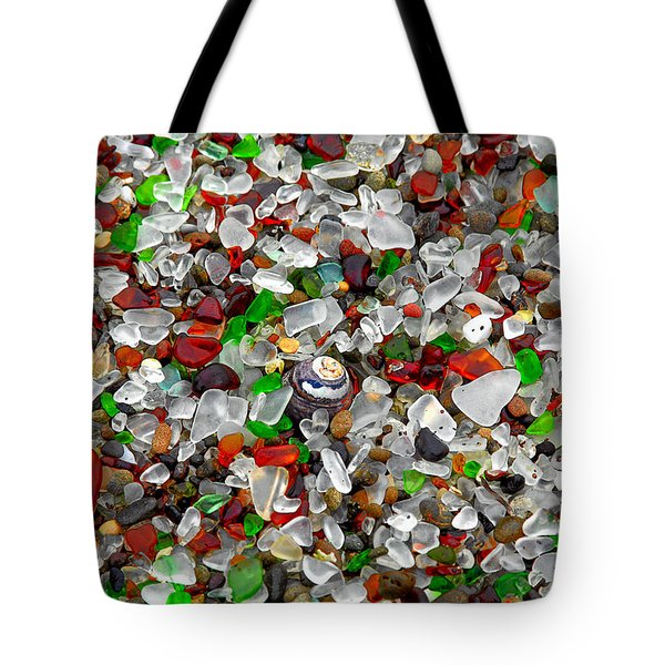 Glass Beach Fort Bragg Mendocino Coast Tote Bag by Christine Till