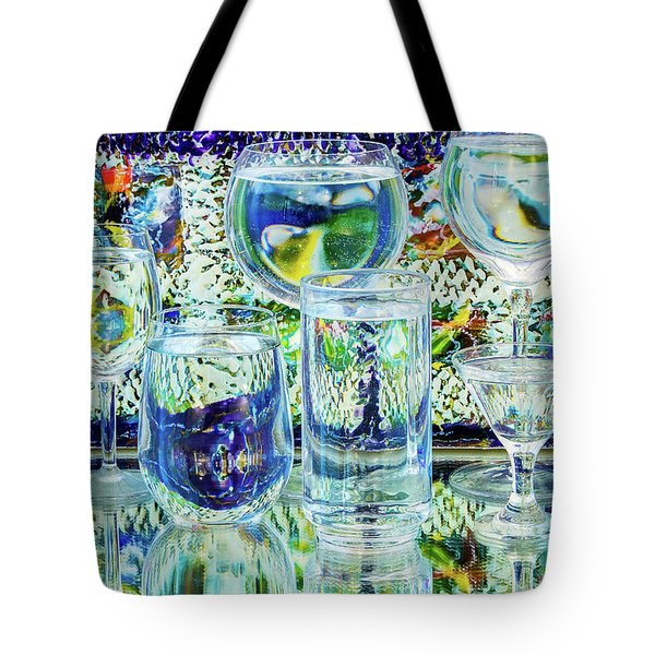 Glass Blues Tote Bag