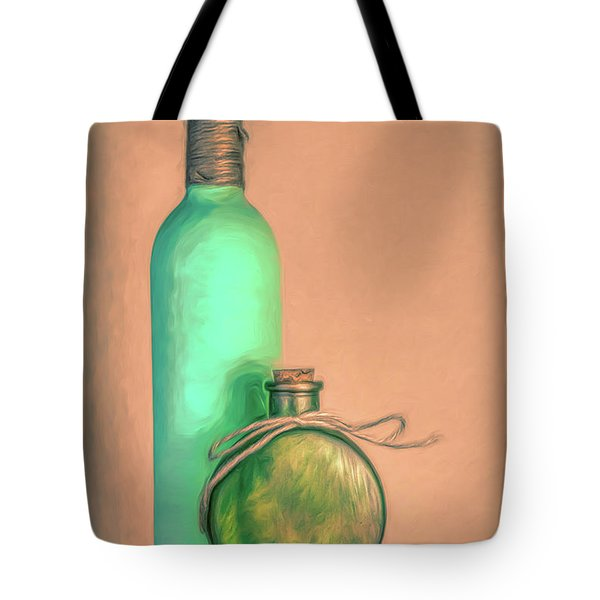 Glass Bottle Composition Tote Bag