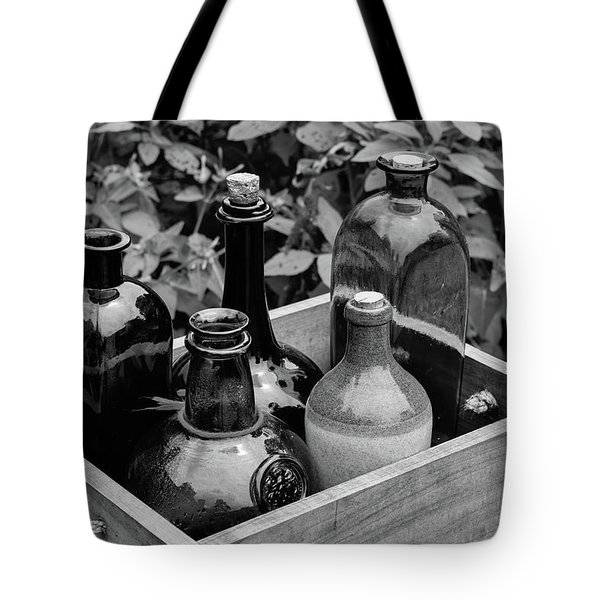 Glass Bottles In The Garden Tote Bag