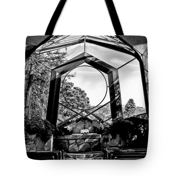 Tote Bag featuring the photograph Glass Church by Joseph Hollingsworth